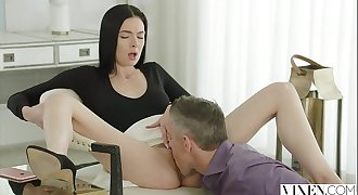 VIXEN Marley Brinx Cheats With Manager Huge Cock