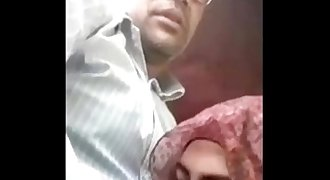 indian young Muslim Hijab Blowjob to Old UNCLE