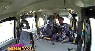 Female Fake Taxi French guy gives gullet fucking and hard sex to horny Stunner