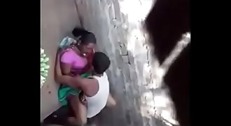Desi village devar fucking his bhabi secretly in outdoor spy video