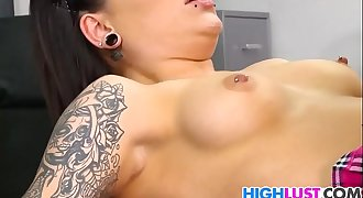 Schoolgirl Karmen Karma gets banged hard
